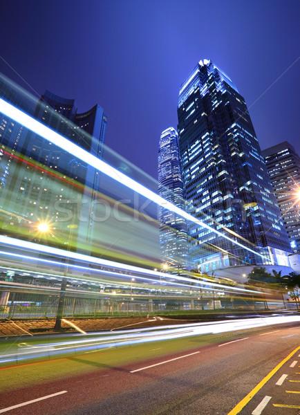 traffic through downtown in Hongkong Stock photo © leungchopan