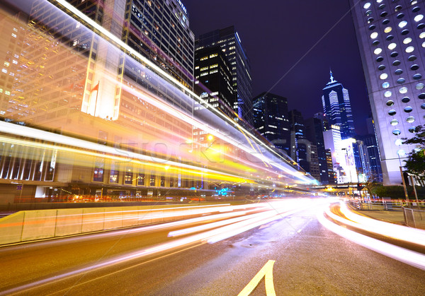 modern urban city at night Stock photo © leungchopan