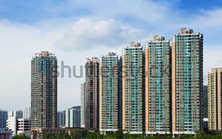 Publicznych obudowa budynku Hongkong miasta ściany Zdjęcia stock © leungchopan