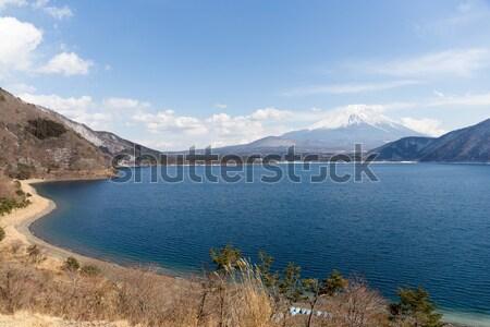 Fuji lago jardim montanha rio planta Foto stock © leungchopan