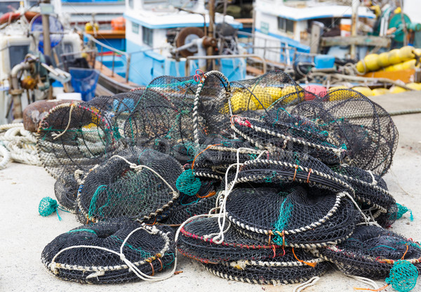 Empty traps for capture fisheries and seafood Stock photo © leungchopan