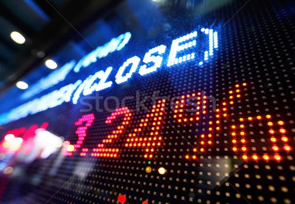 Stock foto: Aktienmarkt · Preis · Display · Monitor · blau · Corporate