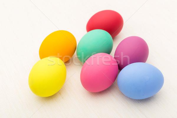 Stock fotó: Színes · húsvéti · tojás · étel · festék · egészség · háttér