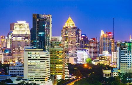 Kuala Lumpur gece iş gökyüzü Bina şehir Stok fotoğraf © leungchopan
