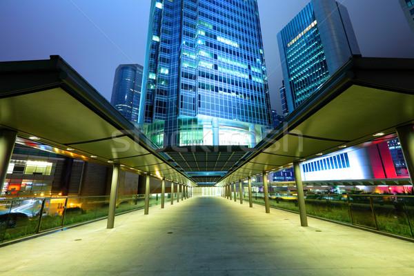 Hong Kong business hemel gebouw stad abstract Stockfoto © leungchopan
