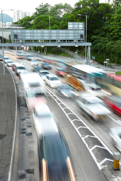 traffic jam with motion blur Stock photo © leungchopan