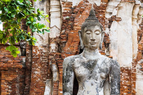 Ancient Buddha statue Stock photo © leungchopan