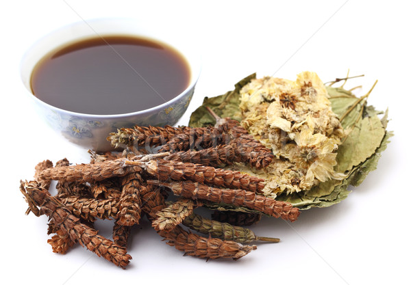 Chinese herbal medicine with drink Stock photo © leungchopan