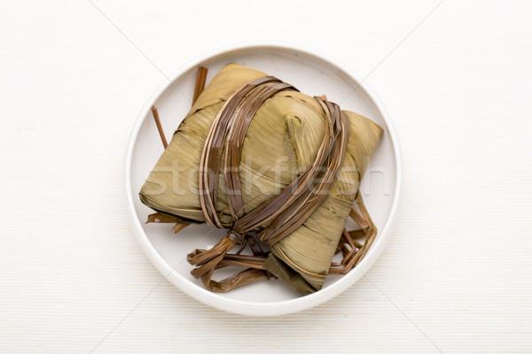 Rice dumpling on the bowl Stock photo © leungchopan