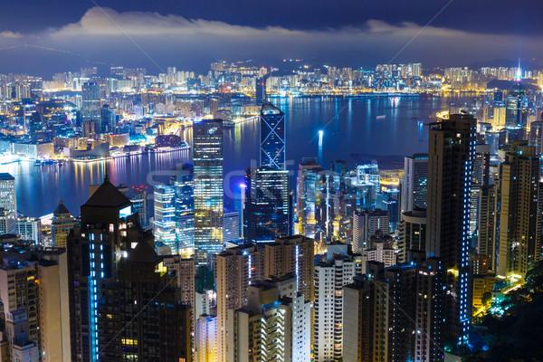 Hong Kong city by night  Stock photo © leungchopan