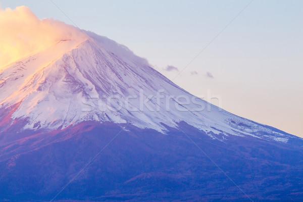 Montanha fuji manhã paisagem azul nascer do sol Foto stock © leungchopan