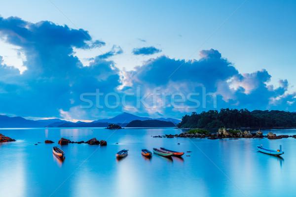 Tengeri kilátás égbolt víz természet csónak hajó Stock fotó © leungchopan