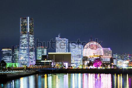Иокогама город Япония ночь бизнеса здании Сток-фото © leungchopan