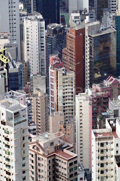 переполненный здании город стены домой окна Сток-фото © leungchopan