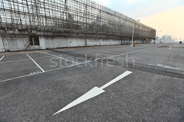 Boş otopark iş doku inşaat Metal Stok fotoğraf © leungchopan