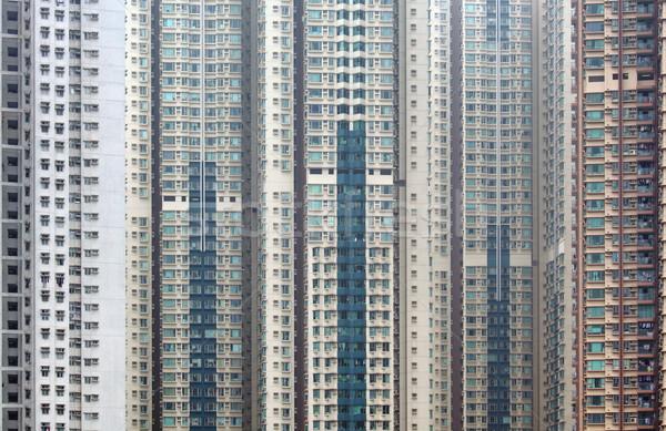 Külső épület város fal otthon ablak Stock fotó © leungchopan