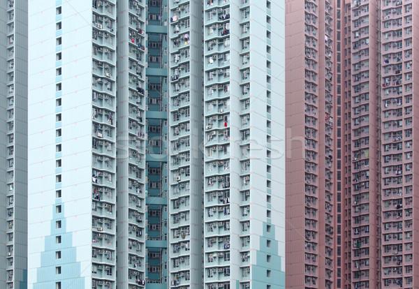 Public housing building in Hong Kong Stock photo © leungchopan