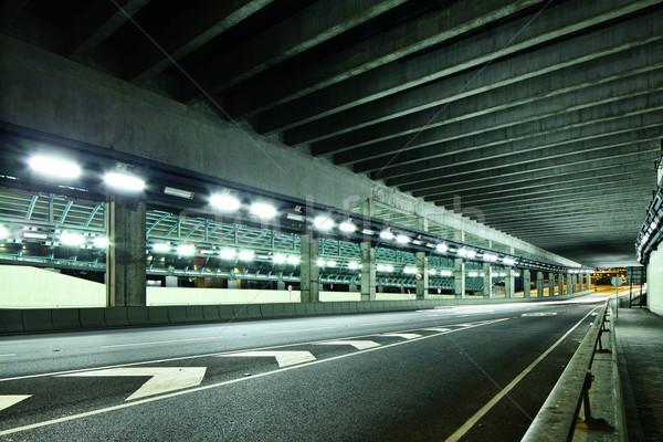 Alagút út nyíl szállítás városkép földalatti Stock fotó © leungchopan