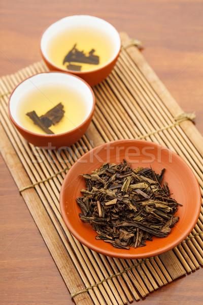Teapot and dried tea leave Stock photo © leungchopan