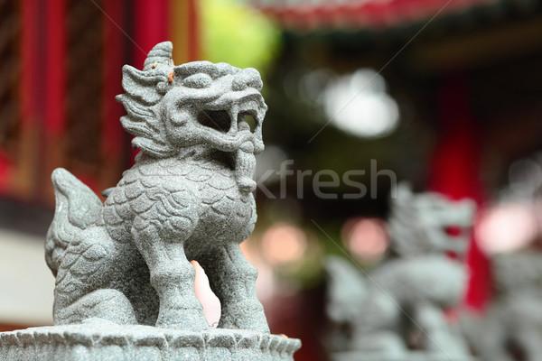 Китайский дракон статуя фон путешествия архитектура власти Сток-фото © leungchopan