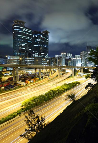 traffic through downtown HongKong Stock photo © leungchopan