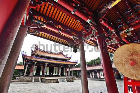 Tapınak Tayvan mimari Asya çatı din Stok fotoğraf © leungchopan