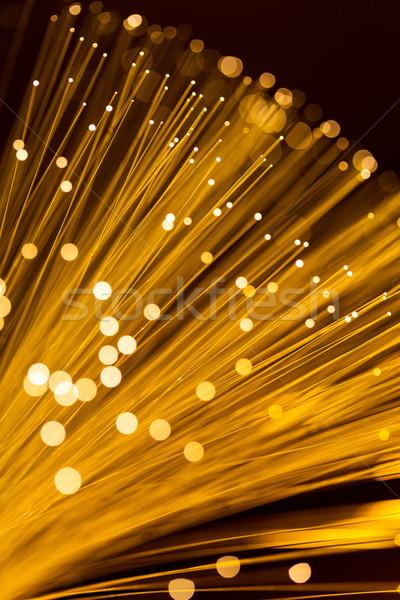 Arany rost optikai fény technológia háttér Stock fotó © leungchopan