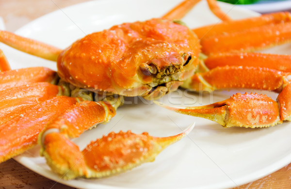 Steamed Alaska King Crab Stock photo © leungchopan