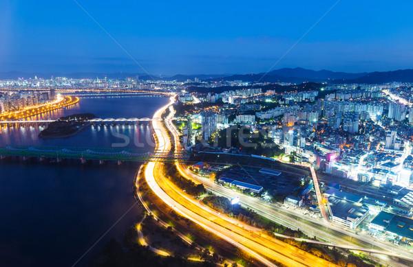Seoul city night Stock photo © leungchopan