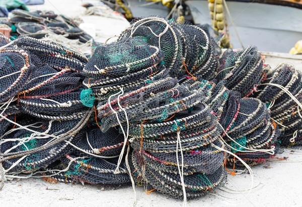 Vangen textuur zee oceaan groene industrie Stockfoto © leungchopan