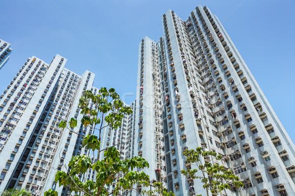 Apartment building in Hong Kong Stock photo © leungchopan