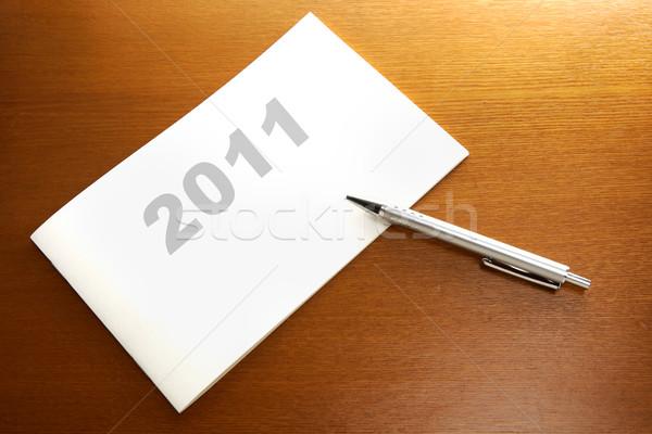 2011 menetrend terv üzlet fa absztrakt Stock fotó © leungchopan