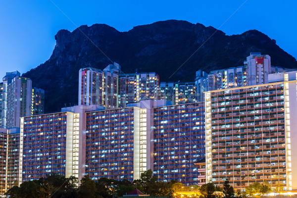 Kowloon residential district in Hong Kong Stock photo © leungchopan
