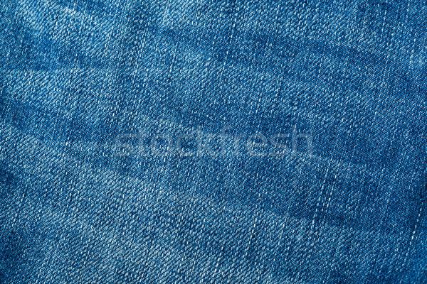 Textuur ontwerp achtergrond Blauw weefsel Stockfoto © leungchopan