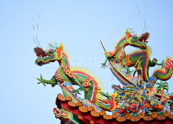 Dragon on the roof Stock photo © leungchopan