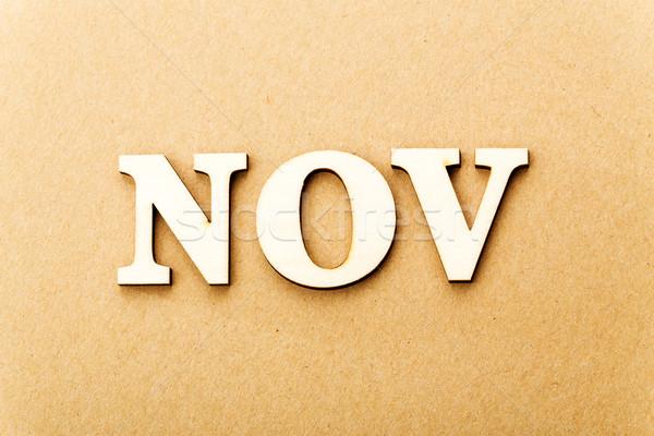 Wooden text for November Stock photo © leungchopan