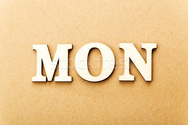 Wooden text for Monday Stock photo © leungchopan