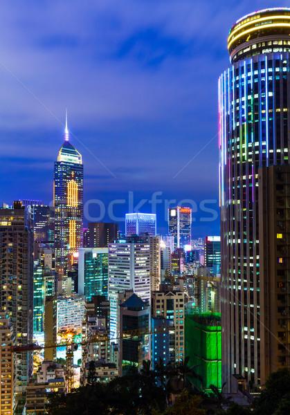 Hong Kong City Night Stock photo © leungchopan
