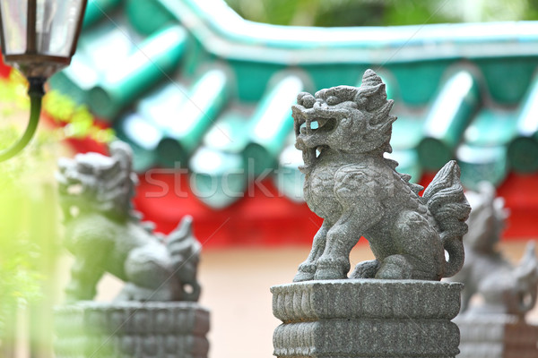 Chinese lion statue Stock photo © leungchopan