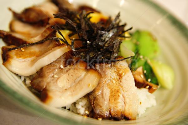 pork with rice Stock photo © leungchopan