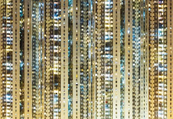 illuminated residential building Stock photo © leungchopan