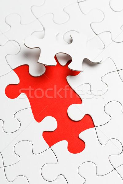 Hiányos puzzle hiányzó darab család hálózat Stock fotó © leungchopan