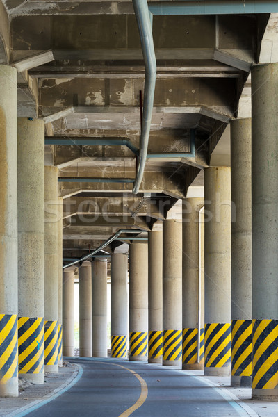 View under the viaduct of a major highway  Stock photo © leungchopan