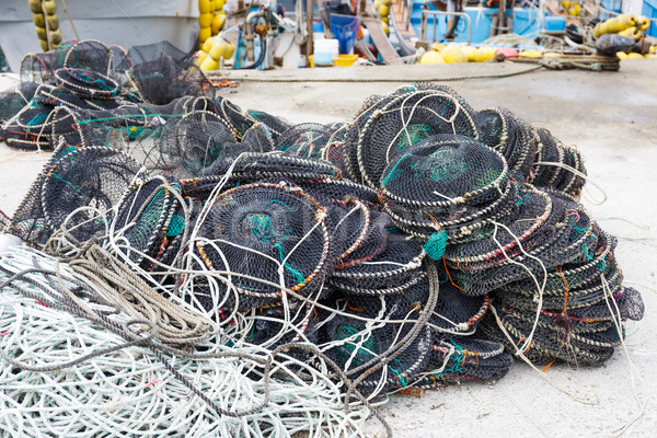 Empty traps for capture fisheries Stock photo © leungchopan
