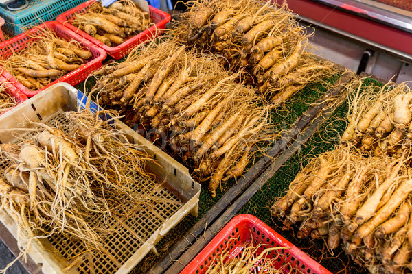 Ginseng groupe marché légumes saine bâton Photo stock © leungchopan