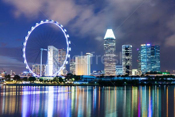 Singapore skyline Stock photo © leungchopan