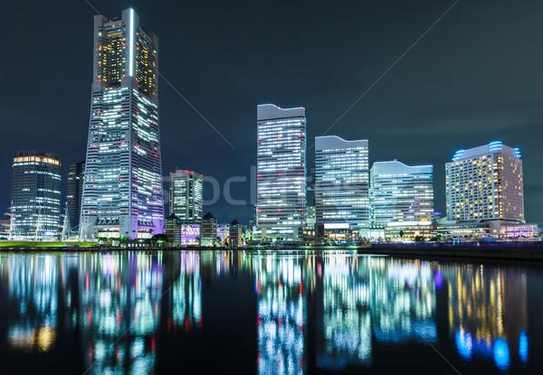 Иокогама Skyline ночь бизнеса воды здании Сток-фото © leungchopan