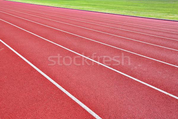 lanes of running track Stock photo © leungchopan