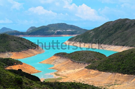 Reservoir water berg Blauw macht Stockfoto © leungchopan