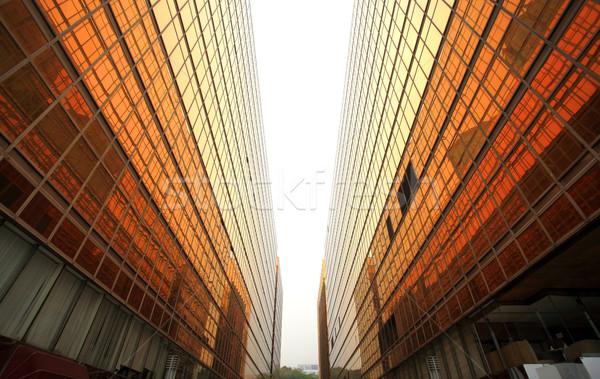 Hong Kong zakenwijk tijdgenoot kantoorgebouwen business hemel Stockfoto © leungchopan